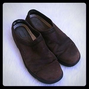 Rockport slip on leather mule shoes size 8.5